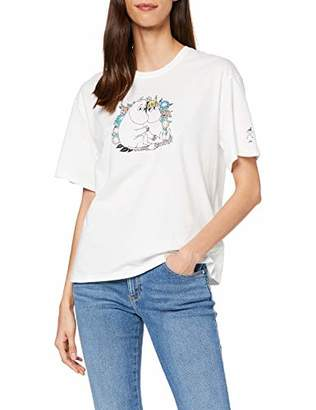 People Tree Peopletree Women's Moomin Couple Print Tee T-Shirt,(Size:)