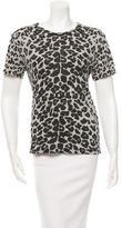 Maje Short Sleeve Leopard-Print Top