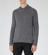 Reiss Dawson - V-neck Jumper in Blue, Mens