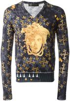 Versace modern Baroque v-neck jumper - men - Silk - 48