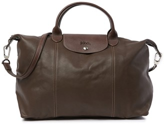 Longchamp Leather Top Handle Convertible Satchel