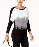 Alfani Petite Embellished Dolman-Sleeve Sweater, Created for Macy's