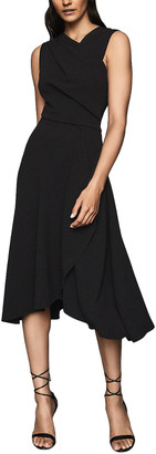 Reiss Marling Wrap Front Midi Dress