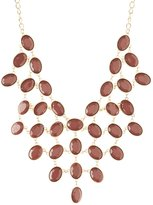 Charlotte Russe Faceted Stone Statement Necklace