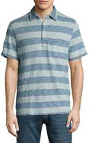 Faherty Men's Cotton Striped Polo