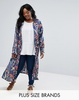 Alice & You Floral Printed Duster Coat