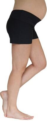 Foldover Maternity Swim Shorts