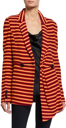 Hellessy Monroe Striped Cotton-Knit Jacket