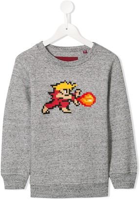 Mostly Heard Rarely Seen 8 Bit Tiny Red Warrior sweatshirt