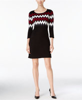 Sandra Darren Petite Chevron Sweater Dress
