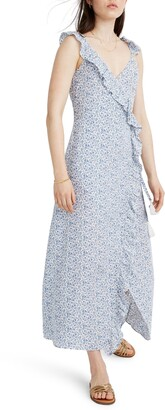 Madewell Ruffled Faux Wrap Maxi Dress