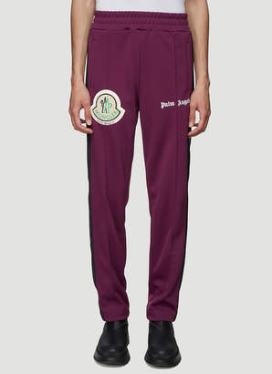 8 Moncler Jersey Track Pants in Purple