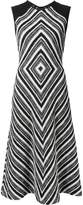 Martin Grant geometric pattern flared dress