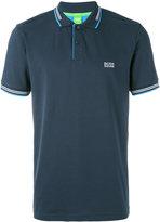 HUGO BOSS tipped logo polo shirt - men - Cotton/Spandex/Elastane - S