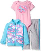 Puma Girls' 3 Piece Interlock Set