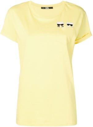 Karl Lagerfeld Paris Ikonk & Choupette pocket T-shirt