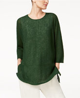 Eileen Fisher Organic Linen Top, Regular and Petite