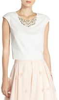 Eliza J Women's Embellished Crop Top