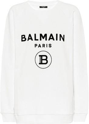 Balmain Logo cotton sweatshirt