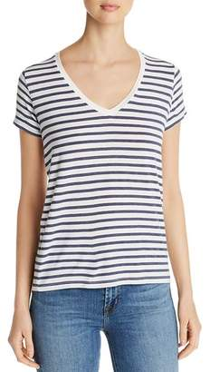 Majestic Filatures Striped V-Neck Tee