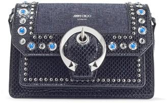 Jimmy Choo Madeline crystal-embellished shoulder bag