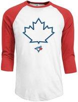 Rong T-shirts Men's Toronto Blue Jays 2016 Logo 3/4 Sleeve Raglan T-Shirt RoyalBlue