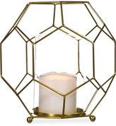 Home Essentials Gold-Tone Geo Lantern