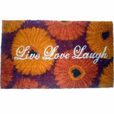 Asstd National Brand Live Love Laugh Rectangle Doormat - 18X30