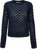 Julien David square knit jumper