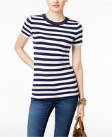 MICHAEL Michael Kors Striped Short-Sleeve Top