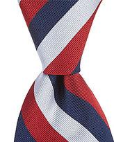 Roundtree & Yorke Big & Tall Triple Stripe Traditional Silk Tie