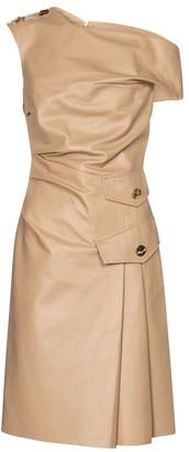 Proenza Schouler One-shoulder leather minidress