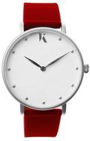 Ksana Ruby Red & Silver Vegan Watch - 38mm