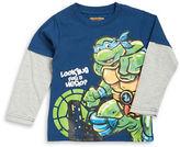 Nannette Boys 2-7 Ninja Turtle Mock Layered Tee
