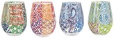 Jay Import Printed Stemless Glasses - Set of 4