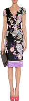 Etro Black-Multi Pleated Silk Stretch Dress