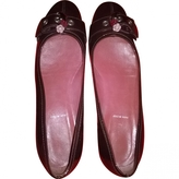 Miu Miu Burgundy Patent leather Ballet flats
