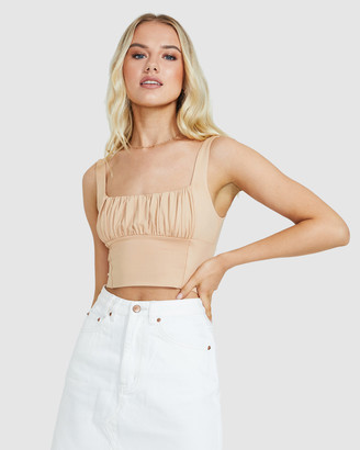 Don't Ask Amanda Ruby Scruched Top