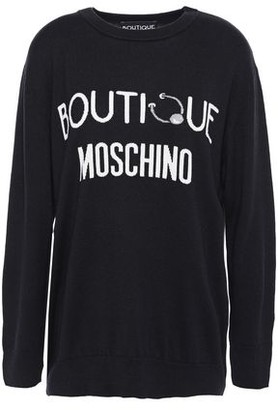 Boutique Moschino Intarsia Silk And Cashmere-blend Sweater