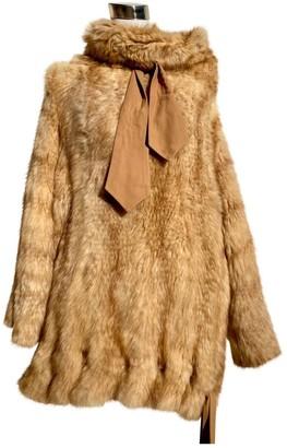 Christian Dior Beige Fur Coat for Women Vintage