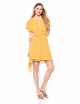 BCBGMAXAZRIA Azria Women's Twist Front Asymmetrical Dress