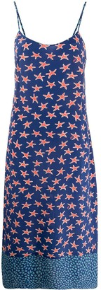 HVN Starfish-Print Shift Dress
