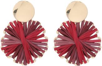 Amrita Singh Women's Earrings Ruby - Red Raffia & Goldtone Floral Celine Drop Earrings