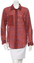Etoile Isabel Marant Plaid Button-Up Top w/ Tags