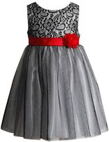 Youngland Girls 4-6x Sparkly Lace & Mesh Dress