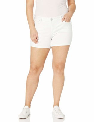 SLINK Jeans Women's Plus Size Charlie White SIDEVENT Short 16