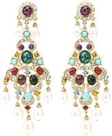 Ben-Amun Byzantine Pearl Chandelier Earrings