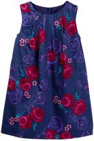 Tea Collection Fileteado Flor Baby Dress (Baby Girls)