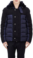 Moncler Men's Tech & Melton Hooded Jacket-BLUE