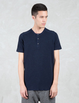 Wings + Horns 1 X 1 Slub Rib S/S Henley T-Shirt